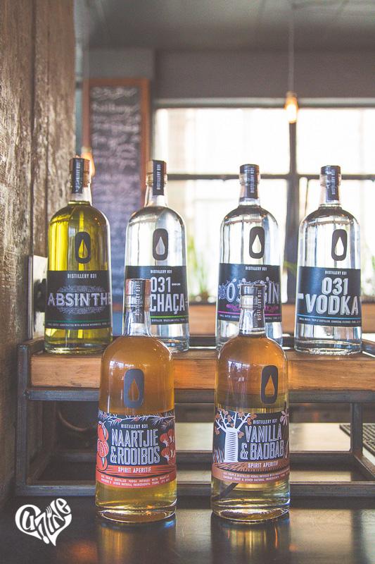 Distillery 031 range of spirits, aperitifs and tonics