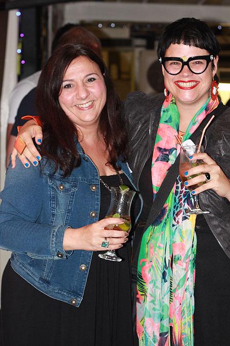 Creative Director Athena Pampallis with ECR radio DJ Jane Linley-Thomas