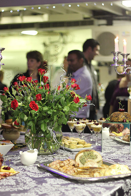 The beautiful spread, a small sample of their extensive festive menu.