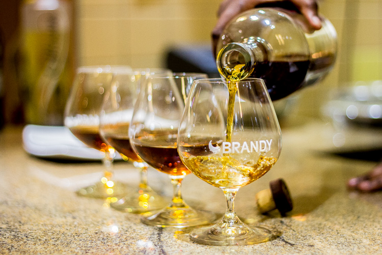 Event kindly sponsored by Distell with premium potstill brandies including Klipdrift Gold, Oude Meester Demant, Richelieu 10 year-old, Collisons White Gold and Van Ryn's 12 year-old.