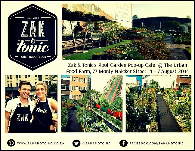 Zak & Tonic Pop-up at the Urban Food Farm, Roof Garden Cafe