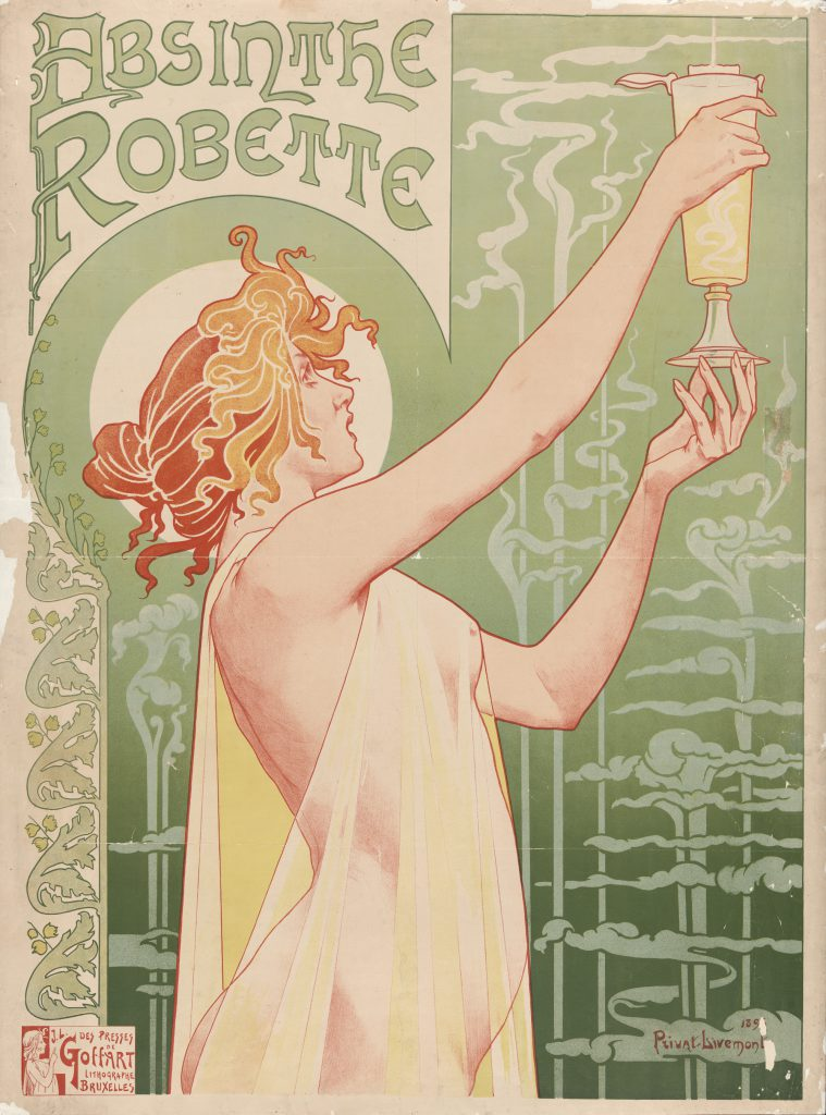 Privat-Livemont - Absinthe Robette, 1896 Source: Wikimedia Commons